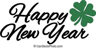 lóhere, új, boldog, év