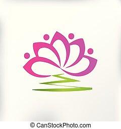 lótusz, jel, virág, befog