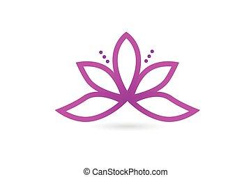 lótusz, jel, virág