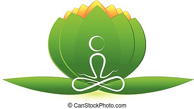 lótusz, jel, virág, yoga bábu