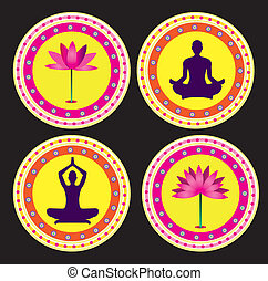 lótusz, yoga pózolás