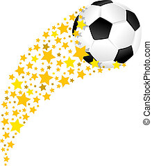 labda, csillag, foci terep, swoosh, futball, vagy