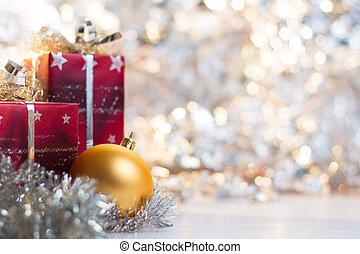 labda, fény, elvont, tehetség, háttér, karácsony