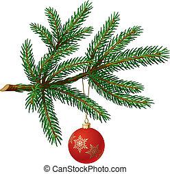 labda, fa ág, sóvárog, karácsony