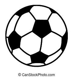 labda, futball, körvonalazott