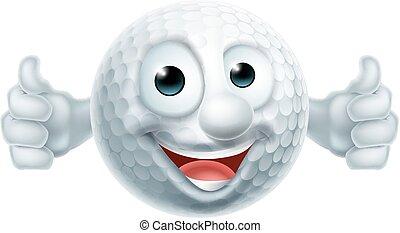 labda, golf, ember