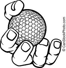 labda, golf, hatalom kezezés