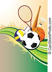 labda, háttér, sport