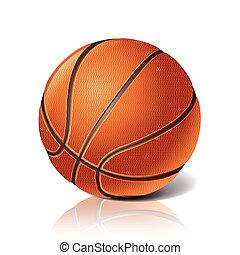 labda, kosárlabda, vektor, ábra