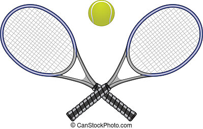 labda, tennis ütő, &
