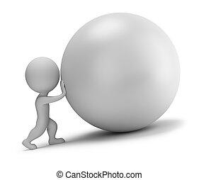 labda, tol, emberek, -, kicsi, 3