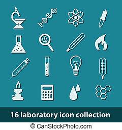 laboratórium, ikonok