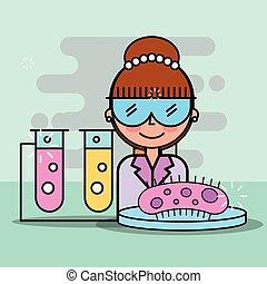 laboratórium, tudomány, kutatás