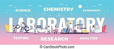 laboratórium, tudomány, zenemű, kutatás