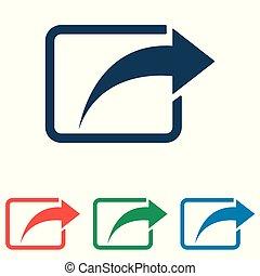 lakás, állhatatos, egyszerű, -, rész, elszigetelt, háttér, vektor, tervezés, fehér, ikon
