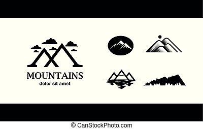 lakás, állhatatos, identity., névjegykártya, bélyegez, fekete, sablon, jel, hegy, egyesített