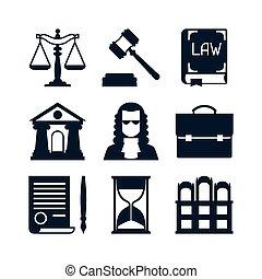 lakás, állhatatos, ikonok, tervezés, törvény, style.