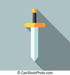 lakás, árnyék, kard, hosszú