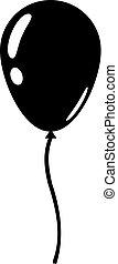 lakás, balloon, elszigetelt, ábra, háttér., vektor, tervezés, fehér, ikon