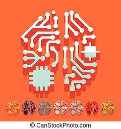 lakás, design:, mesterséges intelligencia