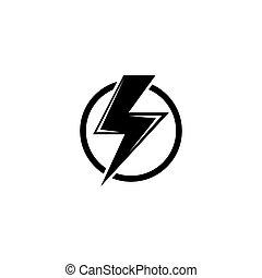 lakás, elektromos, veszély, magas feszültség, vektor, figyelmeztetés, ikon