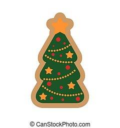 lakás, fa, háttér, white christmas, ikon