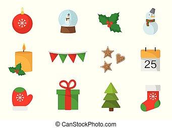 lakás, fehér, állhatatos, karácsony, háttér