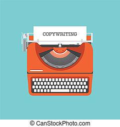 lakás, fogalom, copywriting, ábra