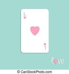 lakás, háttér, kártya, tervezés, piszkavas, aláír, szeret, nagy, szív, játék