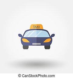 lakás, icon., taxi.