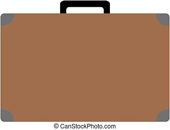 lakás, icon., vektor, illustration., bőrönd