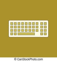 lakás, ikon, számítógép, háttér, billentyűzet