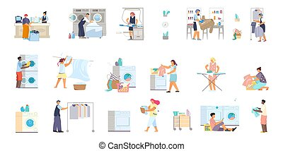 lakás, ikonok, gyűjtés, mosoda