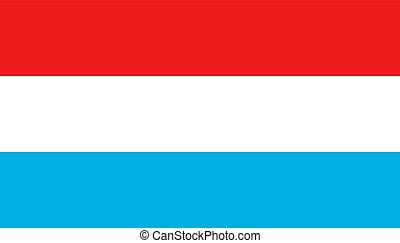 lakás, illustration., ügy, nemzeti, luxemburg, aláír, politic, lobogó, vektor, style., concept., ikon