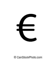 lakás, illustration., jelkép, vektor, (sign), icon., euro