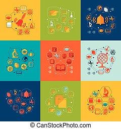 lakás, infographic, oktatás
