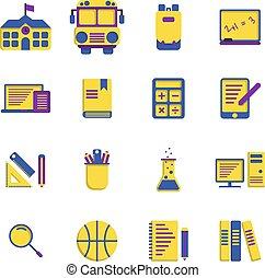 lakás, izbogis, alapismeretek, háttér., állhatatos, fehér, ikon