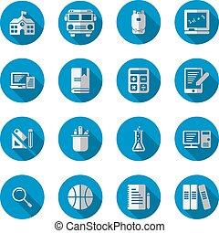 lakás, izbogis, alapismeretek, hosszú, háttér., állhatatos, árnyék, fehér, ikon