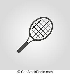 lakás, játék, tenisz, jelkép., icon.