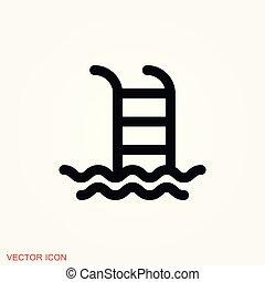 lakás, jelkép, aláír, vektor, tervezés, pocsolya, ikon