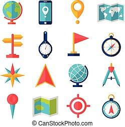 lakás, kartográfia, állhatatos, ikon