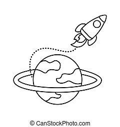 lakás, katapultszerkezet, ikon, rakéta, mód, szaturnusz, űrhajó