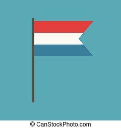 lakás, lobogó, tervezés, luxemburg, ikon