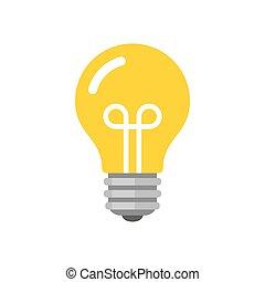 lakás, mód, fény, vektor, gumó, icon.