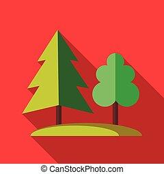 lakás, mód, fa erdő, ikon