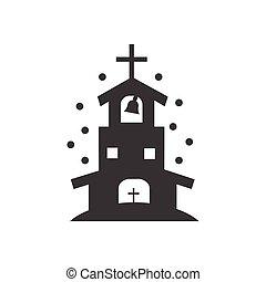 lakás, mód, fekete, templom, fehér, ikon