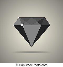 lakás, mód, gyémánt, ikon