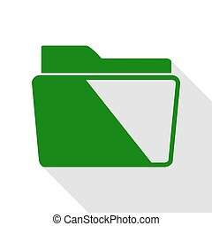 lakás, mód, illustration., aláír, zöld, irattartó, path., árnyék, ikon