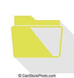 lakás, mód, illustration., körte, aláír, irattartó, path., árnyék, ikon