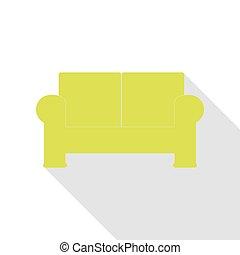 lakás, mód, illustration., pamlag, körte, aláír, árnyék, path., ikon